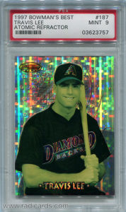Travis Lee 1997 Bowman's Best #187 Atomic Refractor