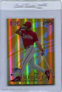 Pat Burrell 1999 Fleer Brilliants #140TG 24-Karat Gold /24