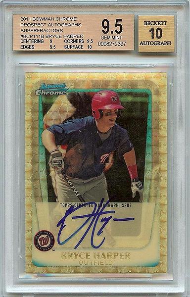 Bryce Harper 2011 Bowman Chrome Prospect Autographs #BCP111B Superfractor /1