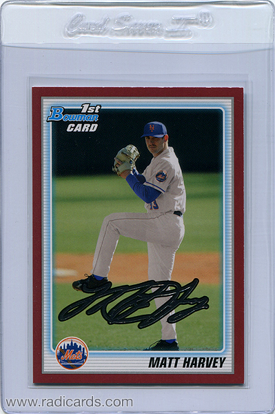 Matt Harvey 2010 Bowman Draft Prospects #BDPP84 Red /1