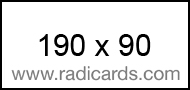 Radicards Ad Spot 190x90
