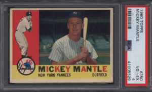 Mickey Mantle 1960 Topps #350 PSA4