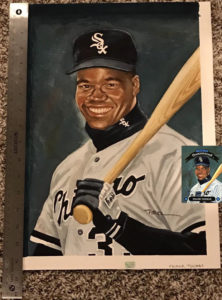 Frank Thomas 1992 Donruss Diamond Kings #DK-8 Original Dick Perez Painting