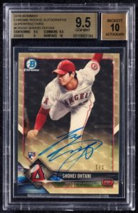 Shohei Ohtani 2018 Bowman Chrome Rookie Autographs #CRASO Superfractor /1