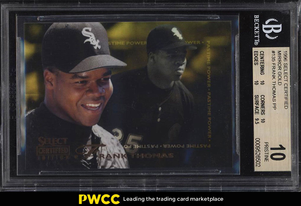 Frank Thomas 1996 Select Certified Mirror Gold #135