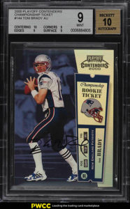 Tom Brady 2000 Playoff Contenders #144 Championship Ticket /100