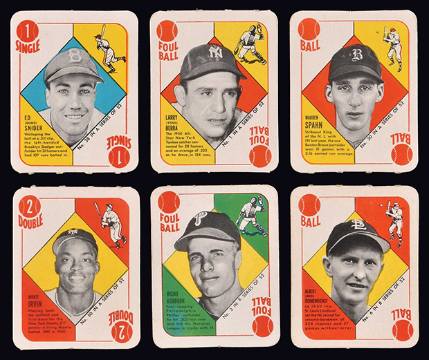 1951 Topps Red and Blue Backs