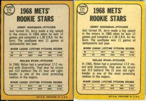 Nolan Ryan 1968 Topps and Milton Bradley #177