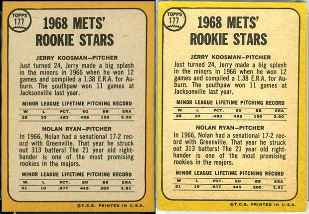 Nolan Ryan 1968 Topps and Milton Bradley #177