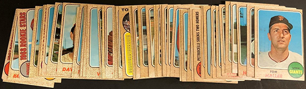 1968 Topps Milton Bradley Baseball Cards