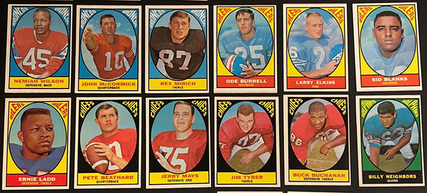1968 Topps Milton Bradley Football Cards
