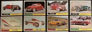 1968 Topps Milton Bradley Hot Rod Cards