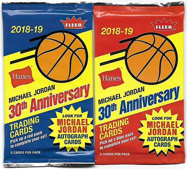 2018-19 Fleer Hanes Michael Jordan Basketball Cards