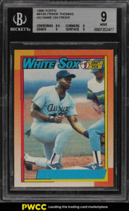 Same Frank Thomas 1990 Topps Nnof Bgs9 Sold By Two Different Sellers