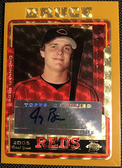 Jay Bruce 2005 Topps Chrome Update #222 Gold Superfractor /1