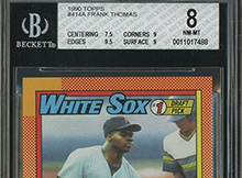 Fake Frank Thomas 1990 Topps Nnof Makes It Passed Bgs And