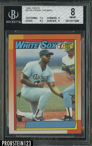 Frank Thomas 1990 Topps #414A (Counterfeit)