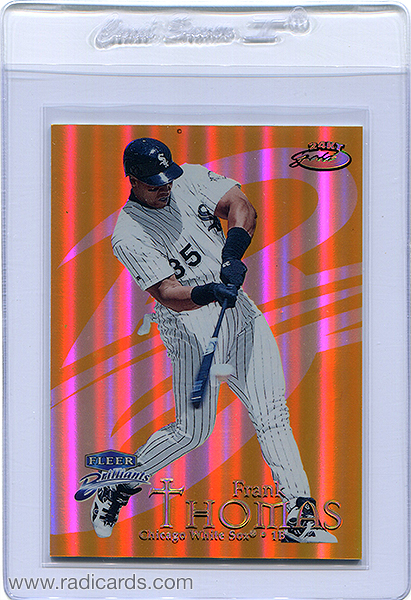 Frank Thomas 1999 Fleer Brilliants #27TG 24-Karat Gold /24