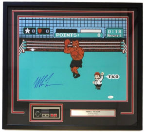 Mike Tyson Signed Punch-Out Photo with Original NES Controller
