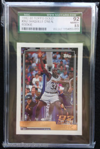 Shaquille O'Neal 1992-93 Topps #362 Gold