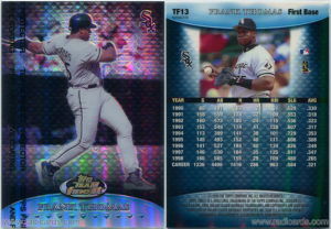 Frank Thomas 1999 Finest Team Finest #TF13 Blue Refractor No Serial Number