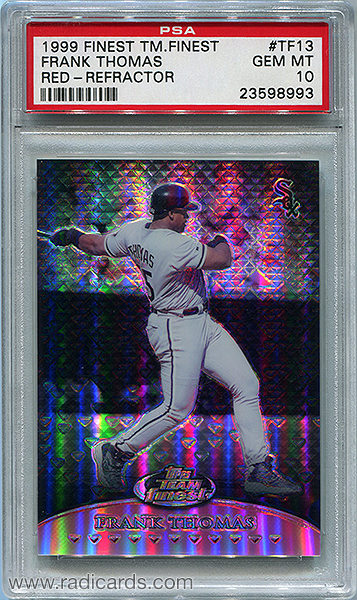 Frank Thomas 1999 Finest Team Finest #TF13 Red Refractor /50