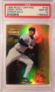 Derek Jeter 1996 Select Certified #100 Mirror Gold /30