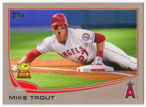 Mike Trout 2013 Topps Mini #27 Platinum /1