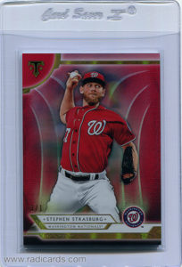 Stephen Strasburg 2018 Topps Triple Threads #55 Ruby /1