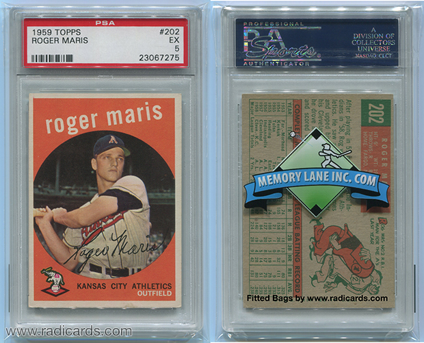 Fitted PSA Graded Card Bags Branded for Memory Lane Inc.