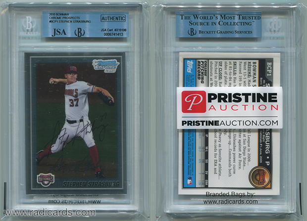 Universal Graded Card Bags Branded for Pristine Auction