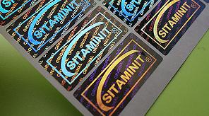 Custom Tamper Proof Stickers | Version 1: Hologram Logo Embedded into Hologram