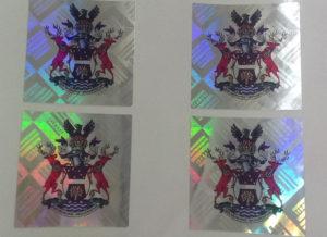 Custom Tamper Proof Stickers | Version 2: Color Logo Printed over Hologram