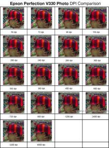 Epson Perfection V330 Photo DPI Comparison