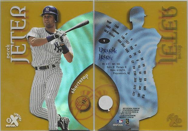 Derek Jeter 1999 E-X Century #9 Aged