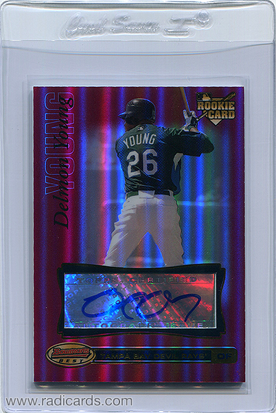 Delmon Young 2007 Bowman's Best #72b Red /1