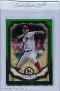 Stephen Strasburg 2018 Topps Museum Collection #41 Emerald /1