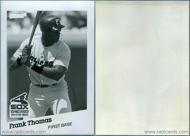 Frank Thomas 1991 Donruss #477 Black & White Proof