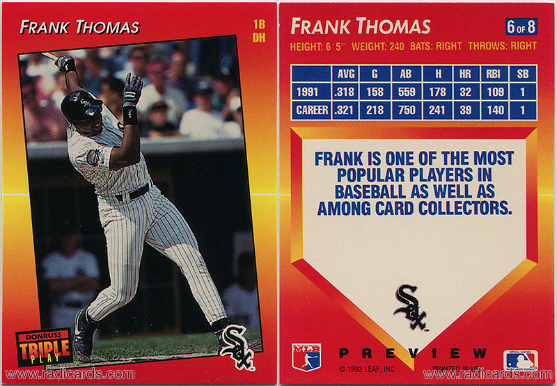 Frank Thomas 1992 Triple Play Preview #6