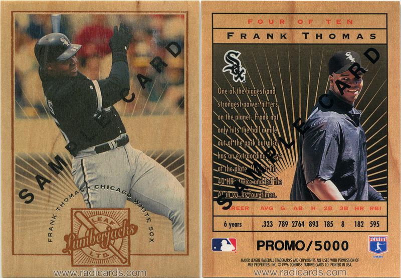 Frank Thomas 1996 Leaf Limited Lumberjacks #4 Sample