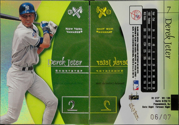 Derek Jeter 1998 E-X2001 #7 Essential Credentials Now /7