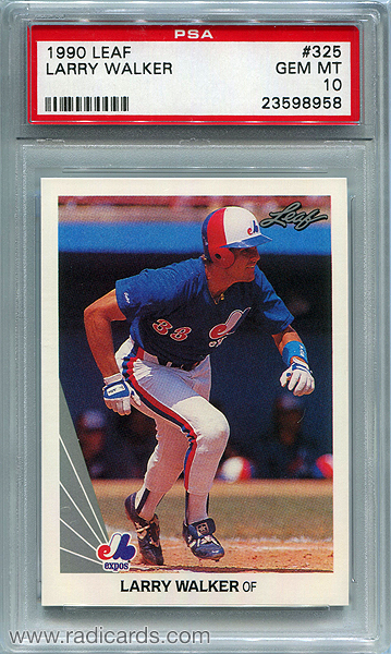 Larry Walker 1990 Leaf #325