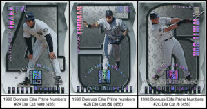 1998 Donruss Elite Prime Numbers Die Cut Baseball Cards