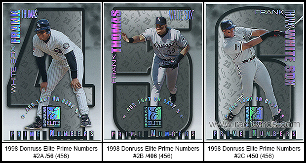 1998 Donruss Elite Prime Numbers Baseball Cards