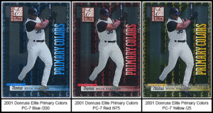 2001 Donruss Elite Primary Colors Baseball Cards