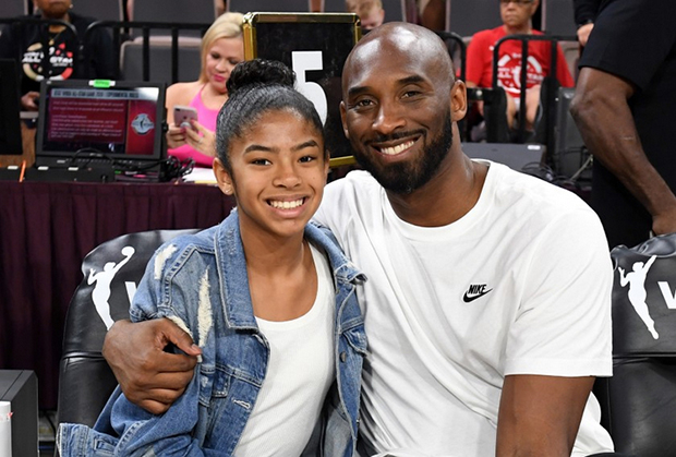 Kobe Bryant with daughter, Gianna