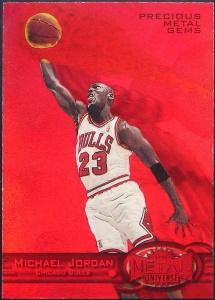 Michael Jordan 1997-98 Metal Universe #23 Precious Metal Gems Red /90