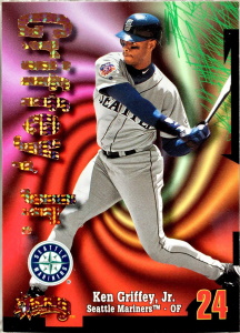 Ken Griffey, Jr. 1998 Circa Thunder #100 Super Rave /25