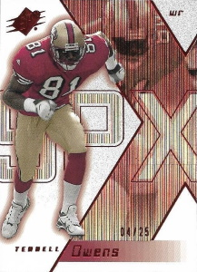 Terrell Owens 2000 SPx #77 Spectrum /25