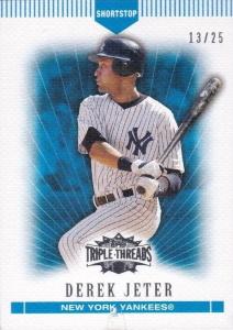 Derek Jeter 2007 Topps Triple Threads #112 Sapphire /25
